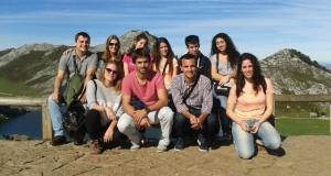 Grupo en los Lagos de Covadonga